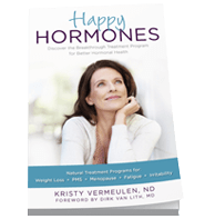 Happy Hormones Book cover by Dr. Kristy Vermenulen, Naturopathic Doctor