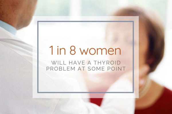 1 in 8 Women will have a Thyroid problem at some point